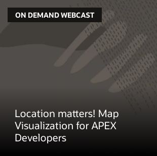 Location matters! Map Visualization for APEX Developers