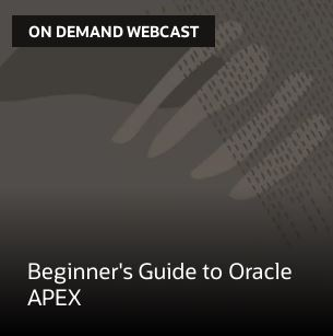 Beginner's Guide to Oracle APEX