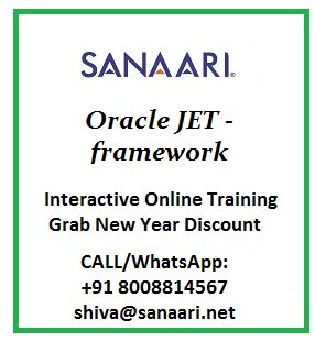 Oracle JET Online Training