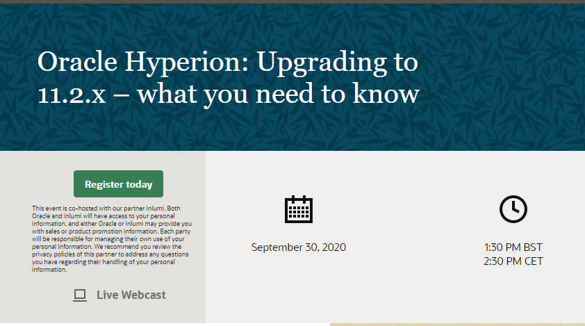 Oracle Hyperion: Upgrading to 11.2.x – what you need to know